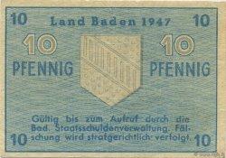 10 Pfennig ALLEMAGNE Baden 1947 PS.1002 SUP