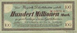 100 Millions Mark ALLEMAGNE Bad Dürkheim 1923  TTB+
