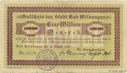 1 Million Mark ALLEMAGNE Bad Wildungen 1923  pr.TTB