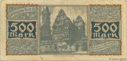 500 Mark ALLEMAGNE Bamberg 1922  TTB