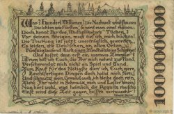 100 Millions Mark ALLEMAGNE Bamberg 1923  TTB