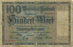 100 Mark ALLEMAGNE  1922 PS.0923 B+