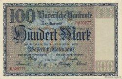 100 Mark ALLEMAGNE Munich 1922 PS.0923 SPL
