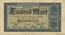 1000 Mark ALLEMAGNE Munich 1922 PS.0924 TB+