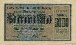5000 Mark ALLEMAGNE  1922 PS.0925 TTB+