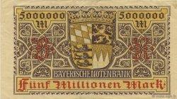 5 Millions Mark ALLEMAGNE  1923 PS.0932 TTB+