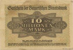 10 Millions Mark ALLEMAGNE  1923  TTB+