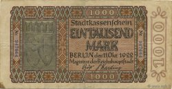 1000 Mark ALLEMAGNE Berlin 1922  TTB