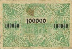 100000 Mark ALLEMAGNE  1923  TB