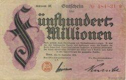 500 Millions Mark ALLEMAGNE Bonn 1923  TTB