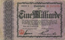 1 Milliard Mark ALLEMAGNE Bonn 1923  TB+