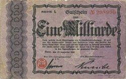 1 Milliard Mark ALLEMAGNE  1923  TB+