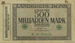 500 Milliard Mark ALLEMAGNE Bonn 1923  TB+