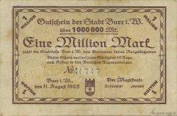 1 Million Mark ALLEMAGNE Buer 1923  TB+