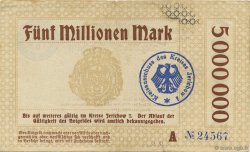 5 Millions Mark ALLEMAGNE Burg 1923  TTB