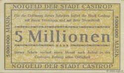 5 Millions Mark ALLEMAGNE Castrop 1923  SPL
