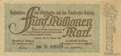 5 Millions Mark ALLEMAGNE  1923  SUP