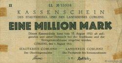 1 Million Mark ALLEMAGNE Coblenz 1923  TB+