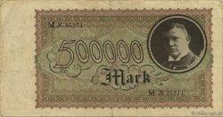 500000 Mark ALLEMAGNE  1923  pr.TTB