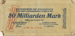 50 Milliards Mark ALLEMAGNE  1923  TB