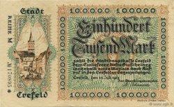 100000 Mark ALLEMAGNE Crefeld 1923  SUP