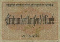 100000 Mark ALLEMAGNE Crimmitschau 1923  TTB