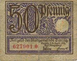 50 Pfennig DANTZIG  1919 P.11 TB
