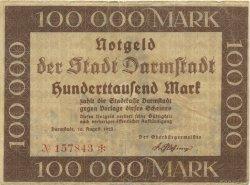 100000 Mark ALLEMAGNE  1923