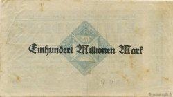 100 Millions Mark ALLEMAGNE Daun 1923  TTB