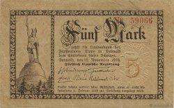 5 Mark ALLEMAGNE Detmold 1918  SPL