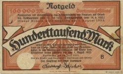 100000 Mark ALLEMAGNE Dortmund 1923  TTB