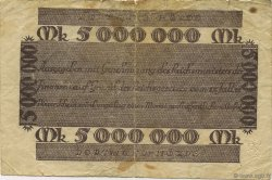 5 Millions Mark ALLEMAGNE Dortmund 1923  TB
