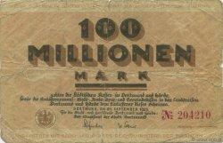 100 Millions Mark ALLEMAGNE Dortmund 1923  B+