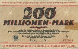 200 Millions Mark ALLEMAGNE  1923  TB