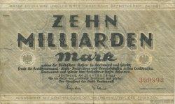 10 Milliards Mark ALLEMAGNE  1923  pr.TTB