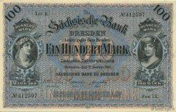 100 Mark ALLEMAGNE Dresden 1911 PS.0952b pr.NEUF