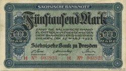 5000 Mark ALLEMAGNE  1923 PS.0957 TTB