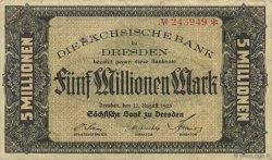 5 Millions Mark ALLEMAGNE  1923 PS.0961 TTB