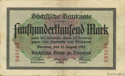 500000 Mark ALLEMAGNE Dresden 1923 PS.0962 TTB