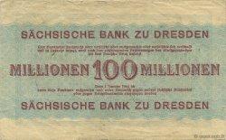 100 Millions Mark ALLEMAGNE Dresden 1923 PS.0965 TTB