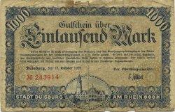 1000 Mark ALLEMAGNE Duisburg 1922  B