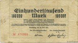 100000 Mark ALLEMAGNE Duisburg 1923  B+