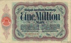 1 Million Mark ALLEMAGNE Duisburg 1923  SUP