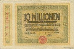 10 Millions Mark ALLEMAGNE Duisburg 1923  TTB