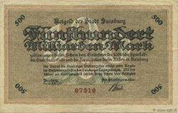 50 Milliards Mark ALLEMAGNE Duisburg 1923  TTB