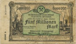 5 Millions Mark ALLEMAGNE  1923  B