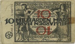 10 Milliards Mark ALLEMAGNE  1923  TB