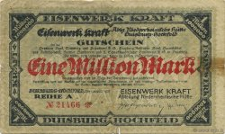 1 Million Mark ALLEMAGNE Duisburg-Hochfield 1923  pr.TB