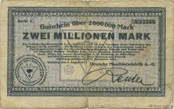 2 Millions Mark ALLEMAGNE Duisburg 1923  B+