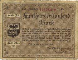 500000 Mark ALLEMAGNE Düren 1923  TB